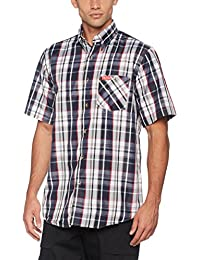 Fifty Five Herren 2911sw-Rot, Fifty Five Herren Freizeithemd Funktionshemd Andre mit Ouick-Dry-Technologie
