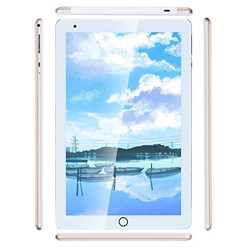 Haehne 10.1 Pollici Tablet PC, Google Android 4.4 GSM WCDMA 3G Phablet, Schermo Capacitivo HD 1280*800P, Quad Core 1.3GHz A7 1GB+16GB, Telecamera Doppia 2.0MP+0.3MP, 4500mAh, WiFi, Oro