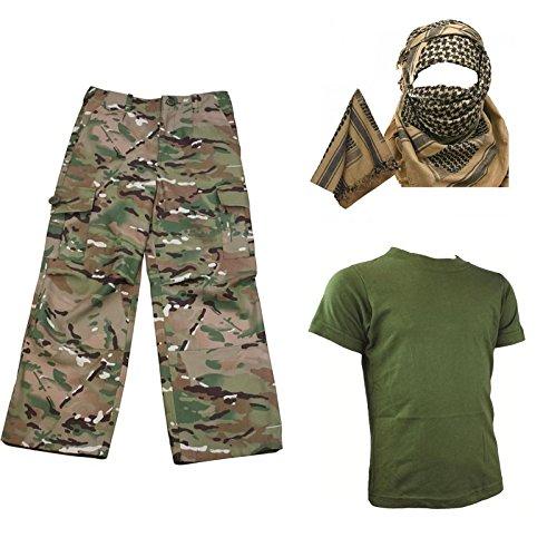 Lot de vêtements pour enfant camouflage – Chemise pantalon keffieh-écharpe  armée - - fe711334dbf