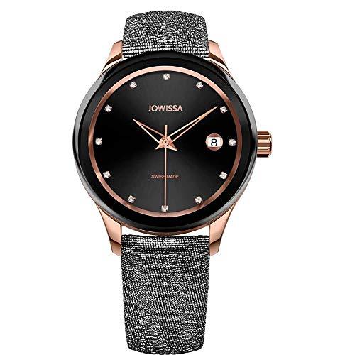 Jowissa Tiro Swiss J4.360.M - Reloj de Pulsera para Mujer, Color Negro y Rosa