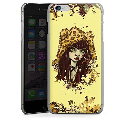 Apple iPhone X Silikon Hülle Case Schutzhülle Comic Leo Mädchen Hard Case anthrazit-klar