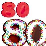 Backformen-Set Zahl 8 und 0 für 80. Geburtstag/Hochzeitstag, Silikonbackformen