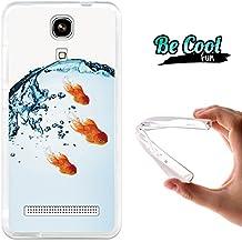 Becool® Fun- Funda Gel Flexible para Zopo Color E ZP350, Carcasa TPU fabricada con la mejor Silicona, protege y se adapta a la perfección a tu Smartphone y con nuestro exclusivo diseño. Pez dorado Goldfish