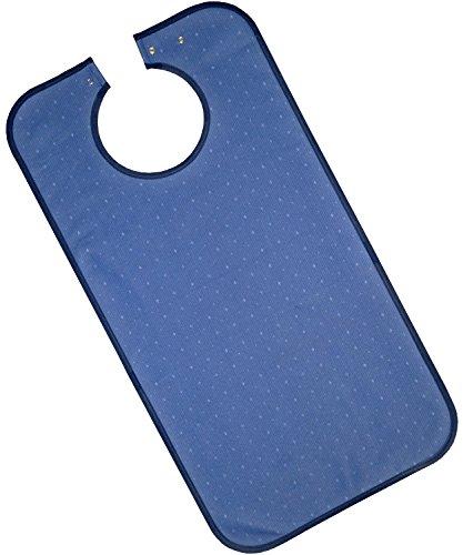 PFLEGE-POINT® Kleidungsschutz/Ess-Schürze für Erwachsene, wasserdicht (dunkelblau)