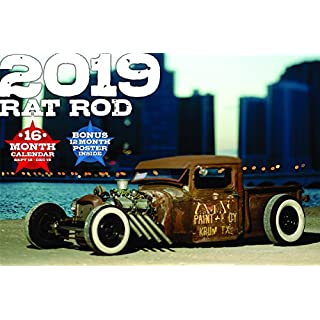 2019 Rat Rod Deluxe Wall Calendar