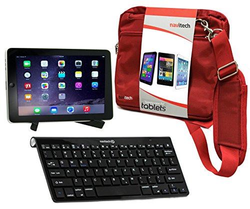 Navitech Tablet Tasche in Rot mit Hybrid Set: Bluetooth Keyboard mit Tablet - Ständerfür das Asus MeMo Pad 10 Smart ME301T / Asus MeMO Pad FHD 10 ME302C / Asus VivoTab ME400c / Asus Vivo TF600T 10.1 (Case Me301t Tastatur)