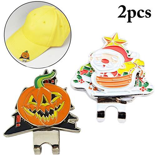 (Fansport 2PCS Golf Hut Clip Golf Ball Marker Golf Liefert FüR Halloween Dekor)