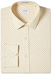 Arrow Mens Formal Shirt (8907378832603_ASTF0587_42_Beige)