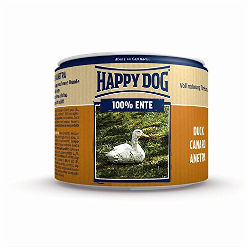 Happy Dog Ente Pur | 12x 200g Hundefutter nass 100% Fleisch