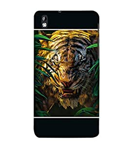 Takkloo tigar wild animal,black background, angry tigar, tigar in woods) Printed Designer Back Case Cover for HTC Desire 816 :: HTC Desire 816 Dual Sim :: HTC Desire 816G Dual Sim