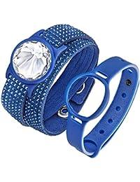 Swarovski Damen-Armband Activity Tracker Edelstahl Stoff weiß 36 cm - 52258