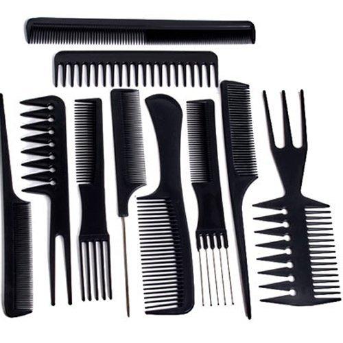 Foxpic 10 Pcs Peignes Kit de Coiffure en Plastique