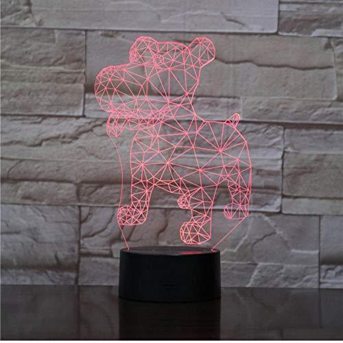 3D Rottweiler Hund Licht Tier Lampen Ständer USB LED Nachtlicht Kinder Geschenk Touch Sensor Nachtlicht Dekoration -