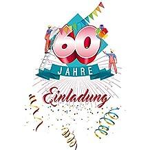 Suchergebnis Auf Amazon De Fur Einladungskarten 60 Geburtstag