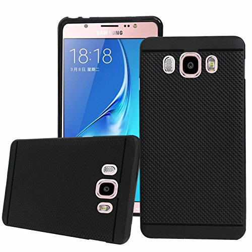 Jkobi Classic Dotted Designed Soft Rubberised Back Case Cover For Samsung Galaxy J5 2016 -Black