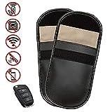 Wemk 2 Pack Signal Blocker Tasche Keyless Go Schutz Autoschlüssel,Strahlenschutz Tasche für Keyless Schlüssel Auto Signal Keyless Schlüsseletui Funkschlüssel Abschirmung