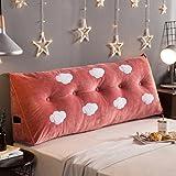 CUSHION MEILING Kissen am Bett Kristallkissen Doppelbett Große Kissen Sofas mit großen Rückenlehnen Lumbar (Farbe : Clouds A, größe : 100 * 22 * 50cm)