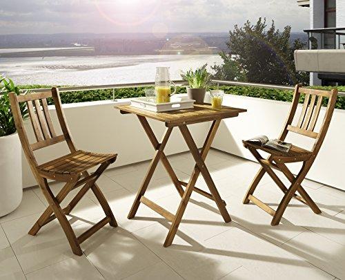 Tavolo Da Terrazzo Pieghevole : Msa sam® tavolo da giardino in legno di acacia tavolo da balcone