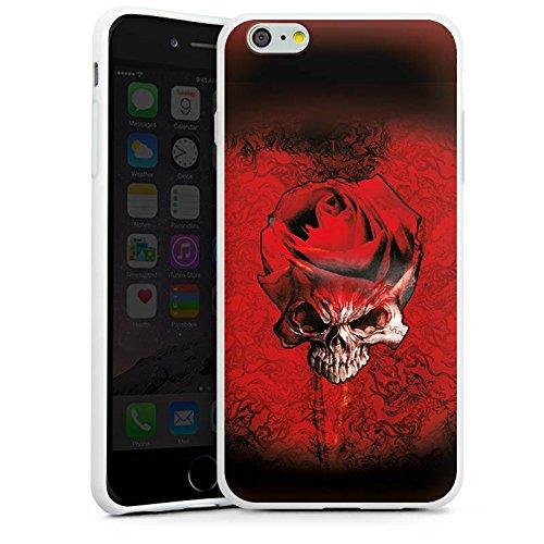 Apple iPhone X Silikon Hülle Case Schutzhülle Rose Blut Dornen Silikon Case weiß