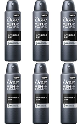 6 X Dove MEN + CARE INVISIBLE DRY SPRAY Deodorante Corpo Uomo MEN+CARE