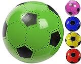 FUßBALL 23 cm Kunststoff Plastik Kunststoffball Kinder Ball Farbauswahl (Blau)