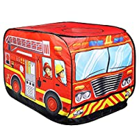 NACEO Kids Tent Toy Play Fire Truck Pop Up Tents, Both Indoor And Outdoor, Boys And Girls Toys, Partner Interactive Game Tent