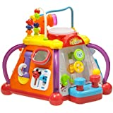 Early Education 18 Months Olds Baby Toy Happy Small World with Music/Light/Games happy little world, baby multifunction box for Children & Kids Boys and Girls