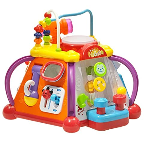Early Education 18 Months Olds Baby Toy Happy Small World with Music/Light/Games happy little world, baby multifunction box for Children & Kids Boys and