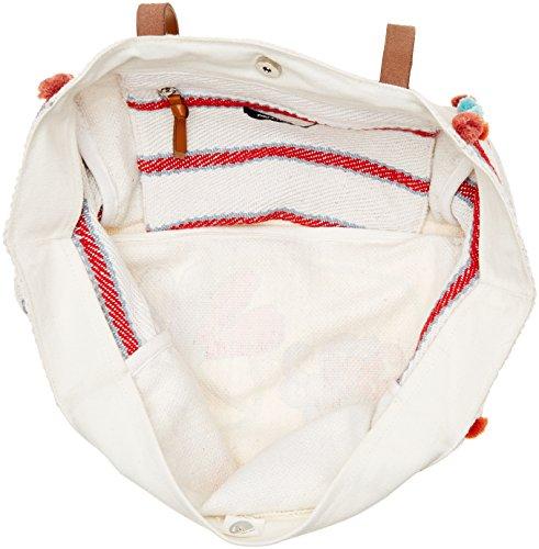 Pennyblack Selenico, Borsa a Spalla Donna, 44 x 36 x 14 cm (W x H x L) Bianco(Bianco/Blu/Rosso)