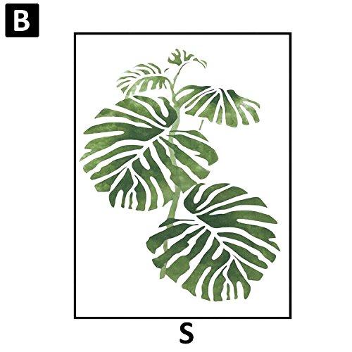 Moderne Aquarelle Feuille tropicale affiches Toile Plante verte florale Affiches d'art Mur de salon photo Décoration Intérieur Sans cadre