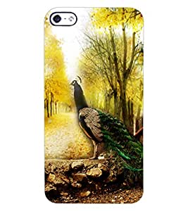 ColourCraft Beautiful Peacock Design Back Case Cover for APPLE IPHONE 4