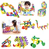 AdiChai Multi Coloured Educational Play and Learn Plastic Building Block Set Pipes Puzzle