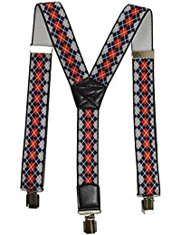 Formal Printed Y-Shape Braces//Suspenders for All Ages Various Designs