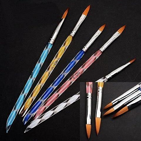 350buy 5pcs Acrylic Nail Art UV Gel Carving Pen Brush Liquid Powder DIY+Rhinestones 2400 Piece 12 Color Nail Art Nailart Manicure Wheels by 350buy