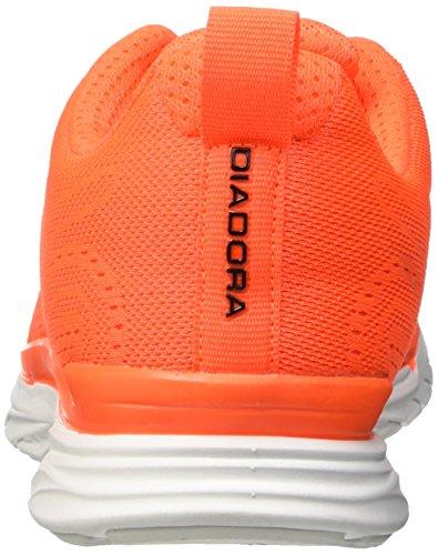 Diadora Unisex-Erwachsene Nj-303 Trama Trainingsschuhe Multicolore (C1422 Arancio/Bianco)
