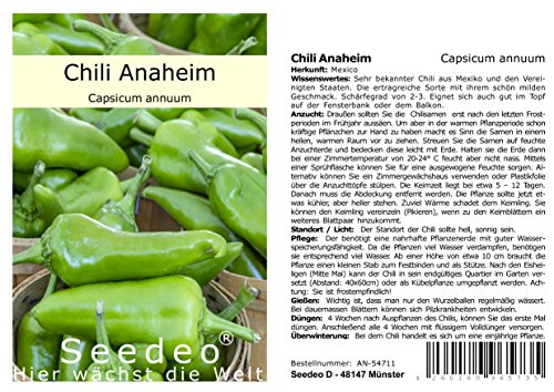Seedeo® Chili Anaheim (Capsicum annuum) 10 Samen