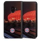 DeinDesign Samsung Galaxy S9 Leder Flip Case Tasche Hülle FC Bayern München FCB Stadion