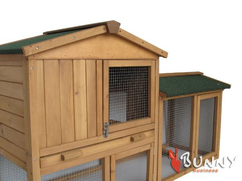 BUNNY BUSINESS The Grove Double Decker Rabbit/ Guinea Pig Hutch and Run, Brown 6