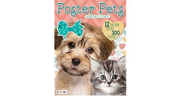 Bendon 44083 Poster Pets Sticker Activity Book