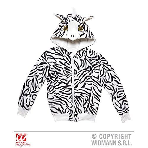 Niedliche Jacke / Sweatjacke / Kapuzenjacke / Tierkostüm als Zebra / Zebrakostüm mit Kapuze Gr. S / M