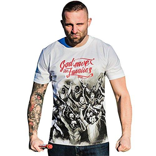 PG Wear T-Shirt God save the Fanatics weiß S-3XL Weiß