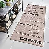 Tapiso Floorlux Alfombra de Pasillo Cocina Comedor Terraza Diseño Moderno Gris Negro Resistente Sisal a Metros 70 x 140 cm