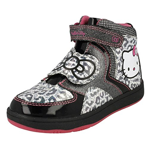 "Ragazze Hello Kitty ""Himalayan Hi Top Trainer, multicolore (Black/pink), 31 EU Junior"