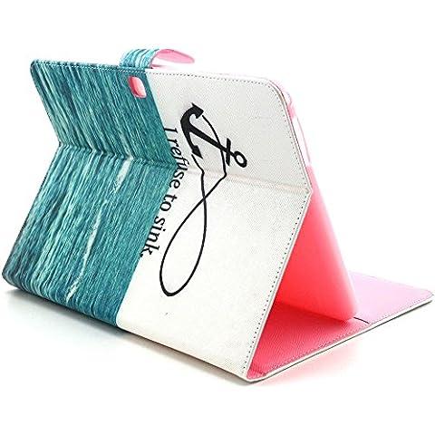 Custodia Samsung Galaxy Tab 3Lite/T110, ElecDay Smart Boy Girl serie ibrida protettiva Portafoglio Cover, PU Pelle, Portafoglio Flip Pellicola/pieghevole integrato, denaro/carte di