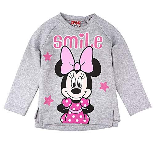 Disney Mädchen Minnie Mouse Shirt, Hellgrau Meliert, Größe 86, 18 Monate