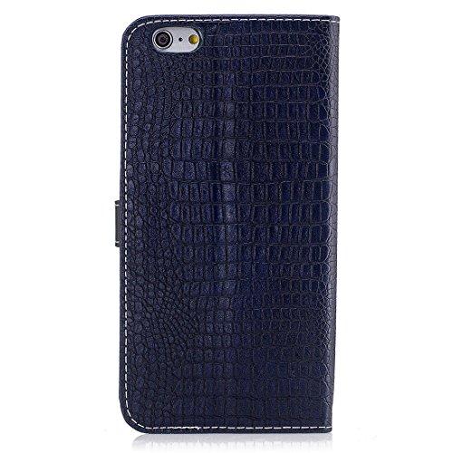 Yaking® Apple iPhone 6/ 6S PU Portefeuille Étui Coque Stand Flip Housse Couvrir impression Case Cover bleu