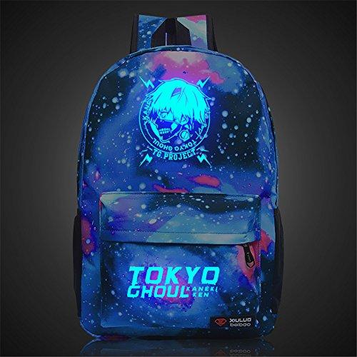 siawasey Anime Tokyo Ghoul Cosplay Luminous Laptop Tasche Schultasche Rucksack Schultasche 3