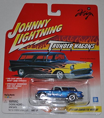 Custom Corvette Nomad (Blue with White Top) - Thunder Wagons - Johnny Lightning - Diecast Car by Johnny Lightning (Johnny Diecast Cars Lightning)