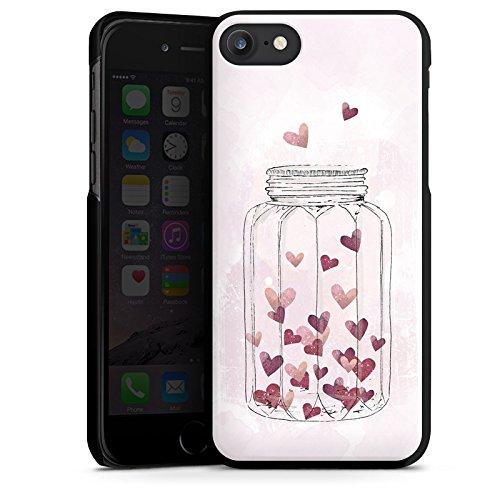 Apple iPhone X Silikon Hülle Case Schutzhülle Herzen Liebe Grafik Hard Case schwarz