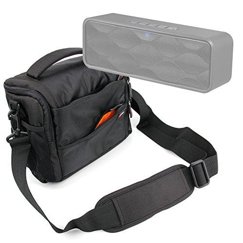 DURAGADGET Bolso con Compartimentos para Altavoz Portátil ZoeeTree S1, Zoee S2 / Trust Polo Compact 2.0 - con Asa Regulable